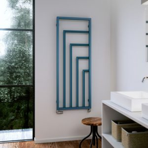 Blue Designer Radiator Lifestyle