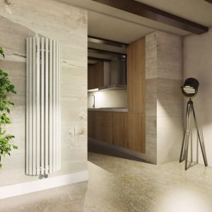 White Designer Radiator Lifestyle