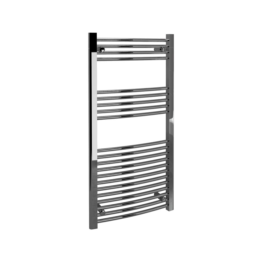 Fina Towel Rails - Curved Chrome