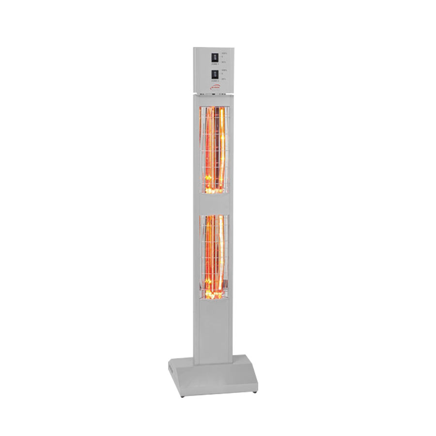 Quick View Burda Smart Tower IP20 Infrared Patio Heater With Dimmer    Silver 3kW