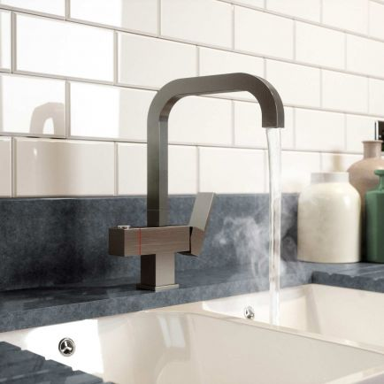 Hermänn Enzo 3 in 1 Filtered Boiling Water Tap - Brushed Steel