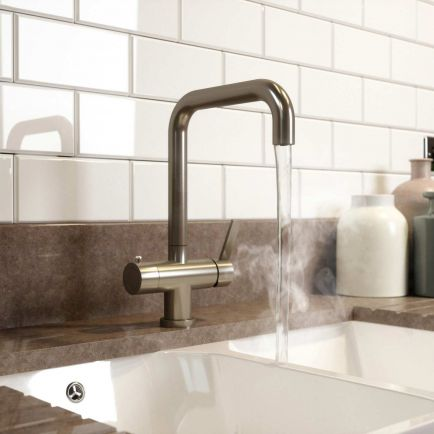 Hermänn Demi 3 in 1 Filtered Boiling Water Tap - Brushed Steel