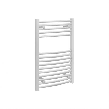 Ecostrad Fina Towel Rails – Curved White 500mm