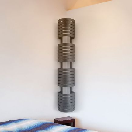 Terma Ely Designer Towel Rail - Modern Grey