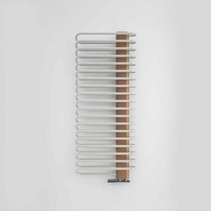 Terma Michelle Designer Towel Rail - Nickel Gloss & Copper