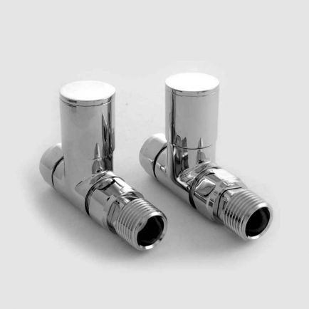 Ecostrad Milan Straight Radiator Valves - Chrome (Pair)