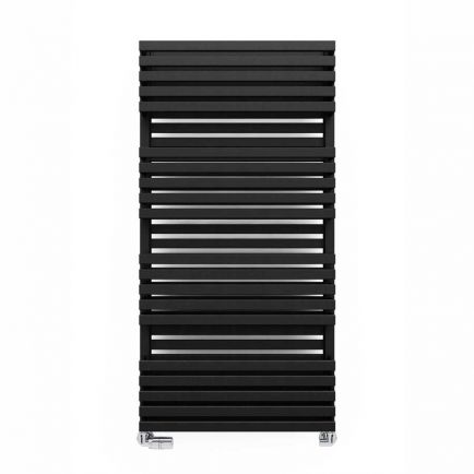 Terma Quadrus Bold Designer Towel Rails - Metallic Black
