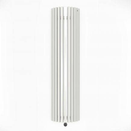Terma Triga E AW Vertical Designer Electric Radiators - Curved White